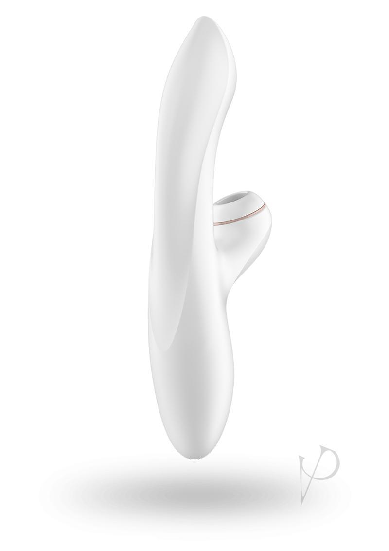 Satisfyer Pro G-spot Silicone Rabbit Usb Rechargeable Waterproof White 8.8 Inch